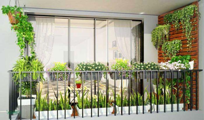 Designing balcony flowers
